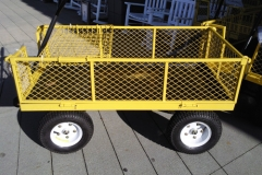 Yellow Cart with Folding Sides