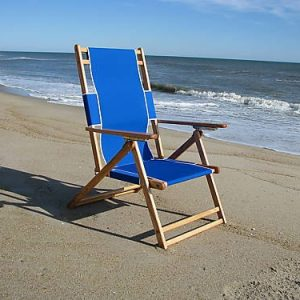 Hi-Back Wood Beach Chair-0
