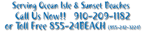 Beach Rental - Call 910-209-1182